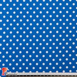 FACTORY. Thin and drape viscose fabric. Polka dot 0,60 cm.