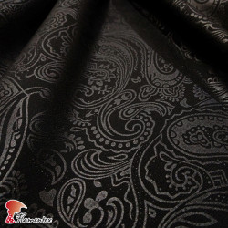 BIANCA *MATE*. Satin fabric, embossed on matt side, with cashmere pattern.