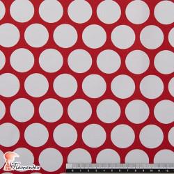 POPELIN FLAMENCA ESTAMPADO. Tela de popelín especial para trajes de flamenca. Estampado de lunares. OEKO-TEX Standard 100