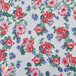 EGEO. Tejido de algodón estampado flores.
