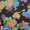 NATASHA. Drape crêpe fabric. Normally used for flamenco dresses. Flowers print.