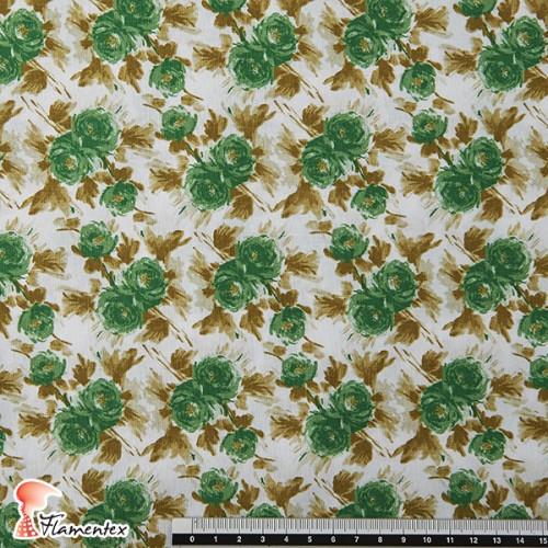 CANDELA. Tela de algodón y spandex, perfecto para vestidos que se adapten al cuerpo.flores.