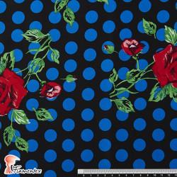 JENNY. Tela satinada elástica ideal trajes de flamenca muy entallados.