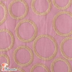 Tela de batista bordada con hilo de algodón