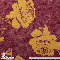 MACARENA. Spandex and cotton fabric, ideal for fitted dresses. Flower print