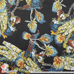 FUNDY. Satin cotton fabric with spandex.