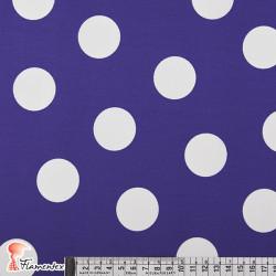 BASICO BULERIA TOPO-GR. Tejido de algodón con lunares grandes estampados de 3,60 cm.