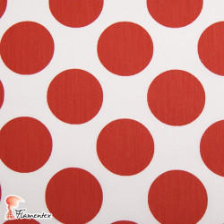 POPELIN FLAMENCA ESTAMPADO. Special poplin fabric for flamenco dresses. Polka dot print 4,50 cm size.
