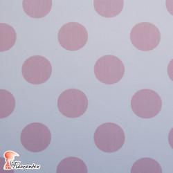 POPELIN FLAMENCA ESTAMPADO. Tela de popelín especial para trajes de flamenca. Estampado de lunares de 3 cm. OEKO-TEX Standard 10