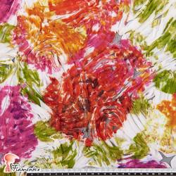 PUMBA. Chiffon fabric with printed clothes ribbon.