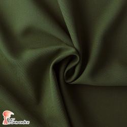 ESTAMEÑA. Tela de sarga lisa, color verde caqui.