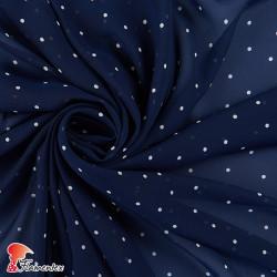 RAIZA. Thin chiffon fabric with polka dots 0,40 cm.