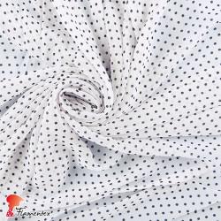 RAIZA. Thin chiffon fabric with printed polka dot 0,30 cm.