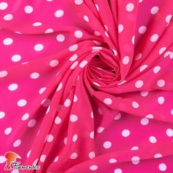 RAIZA. Thin chiffon fabric with printed polka dots 1,50 cm.