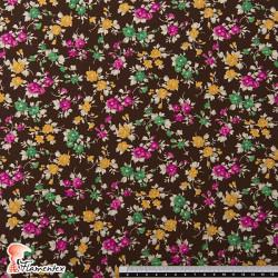 NATASHA. Tela de crespón con mucha caída, perfecta para trajes de flamenca. Estampado de flores.