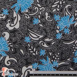 NATASHA. Tela de crespón con mucha caída, perfecta para trajes de flamenca. Estampado floral.