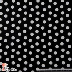 NATASHA. Tela de crespón con mucha caída, perfecta para trajes de flamenca. Estampado lunares de 1,50 cm.
