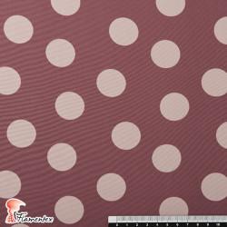 NATASHA. Drape crêpe fabric. Normally used for flamenco dresses. Medium polka dot print 2.75 cm.