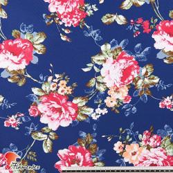 JENNY. Tela satinada elástica ideal trajes de flamenca muy entallados. Estampado flores.