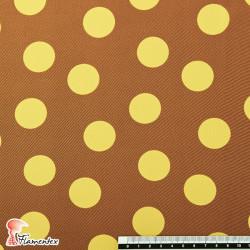 NATASHA. Tela de crespón con mucha caída, perfecta para trajes de flamenca. Estampado lunares medianos de 2.75 cm.