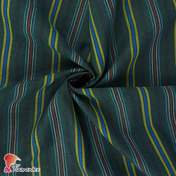 AZOV. Tejido de algodón de rayas verticales.