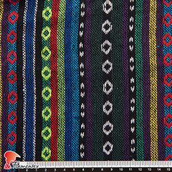 ETNICO APACHE. Tela de algodón, ideal para ponchos, forros, disfraces hippies, etc.