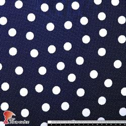 NATASHA. Crespón con mucha caída, perfecta para trajes de flamenca. Estampado lunares medianos de 2 cm.