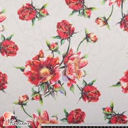 TROBAL. Artículo de jacquard con dibujos de cachemir y estampado floral.