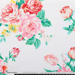 CAZALLA. Printed cotton fabric.