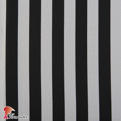 BASICO STRECH EST. LISTA ANCHA. Polyester fabric. Wide stripe print.