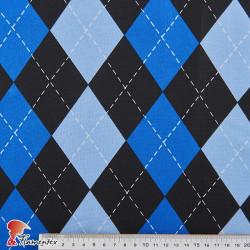 BASICO STRECH EST. MONSTER. Polyester fabric. Diamond print.