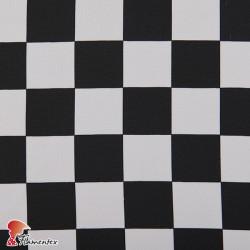 BASICO STRECH EST. CUADRO PARCHIS. Polyester fabric. Multicolour check print.