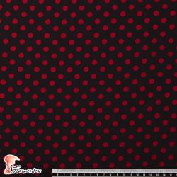 NATASHA TOPO MD. Crespón con mucha caída, perfecta para trajes de flamenca. Estampado de lunares de 0,80 cm.