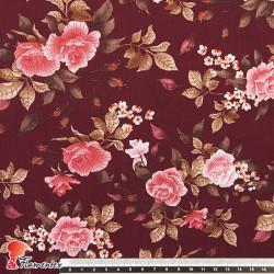 HARU. Tejido de algodón con estampado de flores.