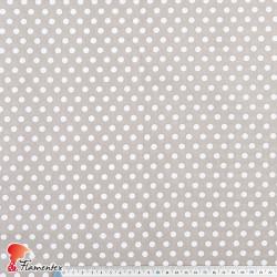 HARU. Tejido de algodón con estampado de lunares de 0,60 mm.
