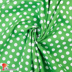 HARU. Printed cotton fabric with polka dot print (1,30 cm.).