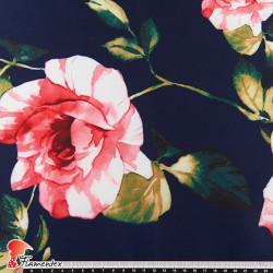 IRAI. Tejido de raso rígido. Estampado floral.