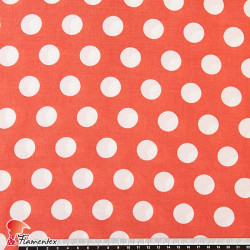 FACTORY. Thin and drape viscose fabric. Polka dot 2 cm. Same separation than 02618/41.