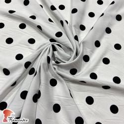 STRECH FLOC. Plain polyester stretch fabric.