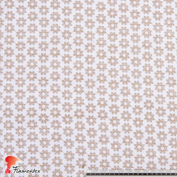 TYRIA. Tela de algodón bordado.