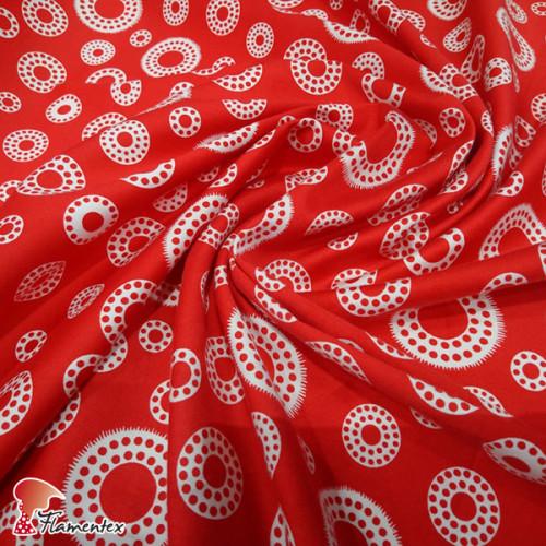 AINOA. Tela satinada elástica, perfecta para trajes de flamenca muy entallados.