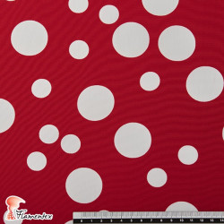 NATASHA TOPO IRREGULAR GR. Tela de crespón con mucha caída, perfecta para trajes de flamenca. Estampado lunares irregulares medi