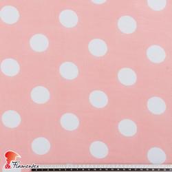RAIZA. Thin chiffon fabric with printed polka dot 3,20 cm.
